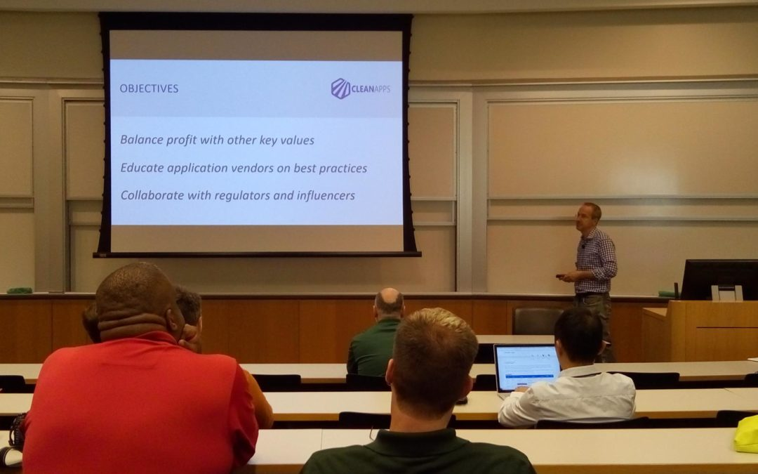 CleanApps.org presents at Wharton School of Business