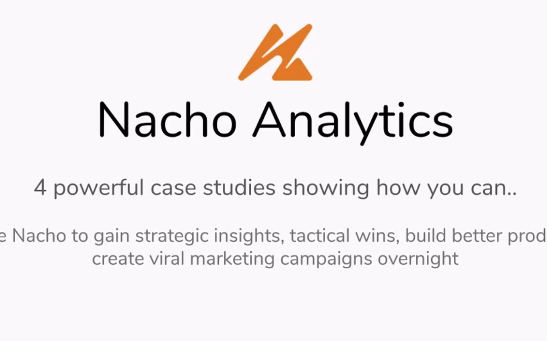 Mastermind Series: Nacho Analytics – The Holy Grail of Competitive Intelligence