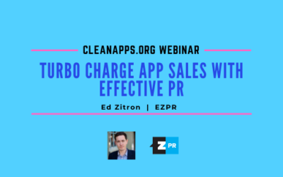 Webinar: Turbo Charge App Sales with Effective PR